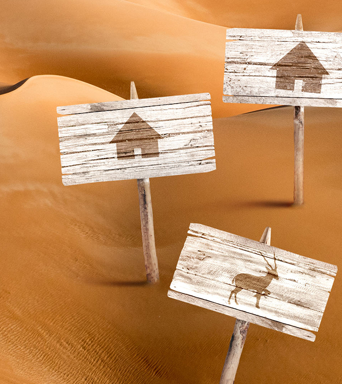 Mega Dunes Eco  Lodges - Abu Dhabi