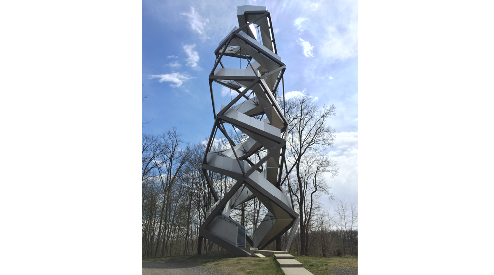 observation tower architecture double helix dna mur river