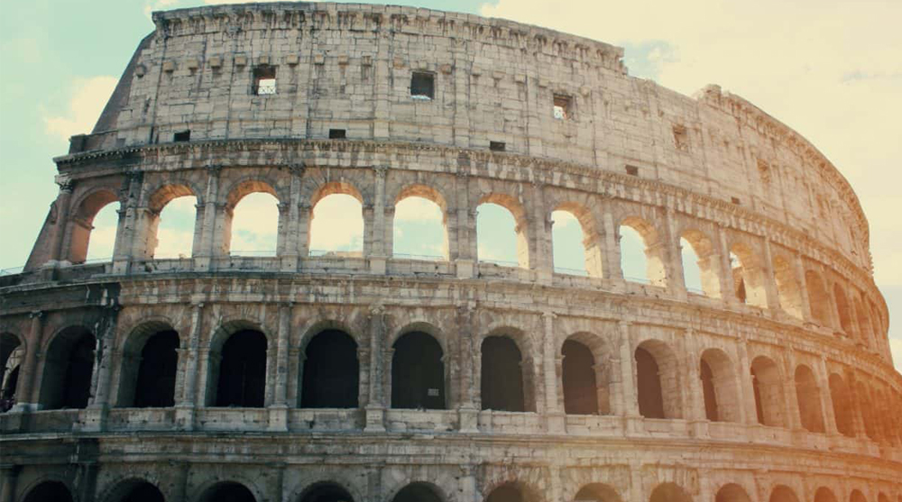 roman architecture concrete stadium colosseum