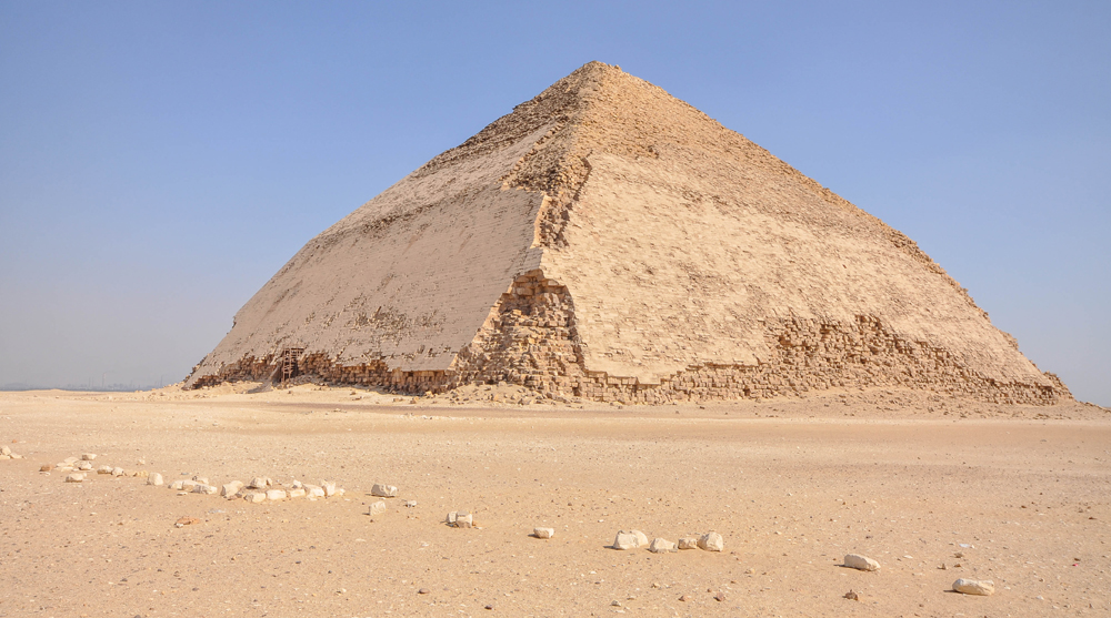 ancient egyptian architecture bent pyramid dahshur